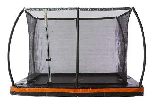 JUMP POWER 10ft. x 7.5ft or 12ft. x 8ft. In-ground Rectangular Trampoline
