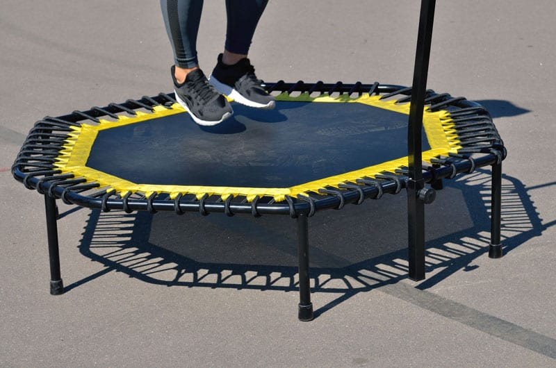 properly jump on a trampoline