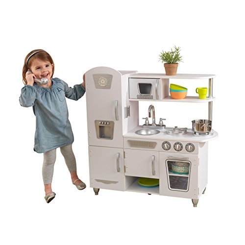 022356aaa5c KidKraft Vintage Kitchen is another adorable kitchen playset for toddler  you can find on the market today. It has close attention to details and  lots of ...