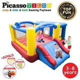 PicassoTiles KC102 12x10 Foot Inflatable Bouncer [Upgrade Version]