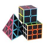 Roxenda Speed Cube Set,  Carbon Fiber Improved Version Speedcube