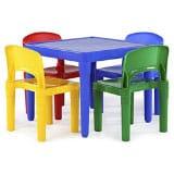 Tot Tutors Kids Wood Table & 4 – Chair Set